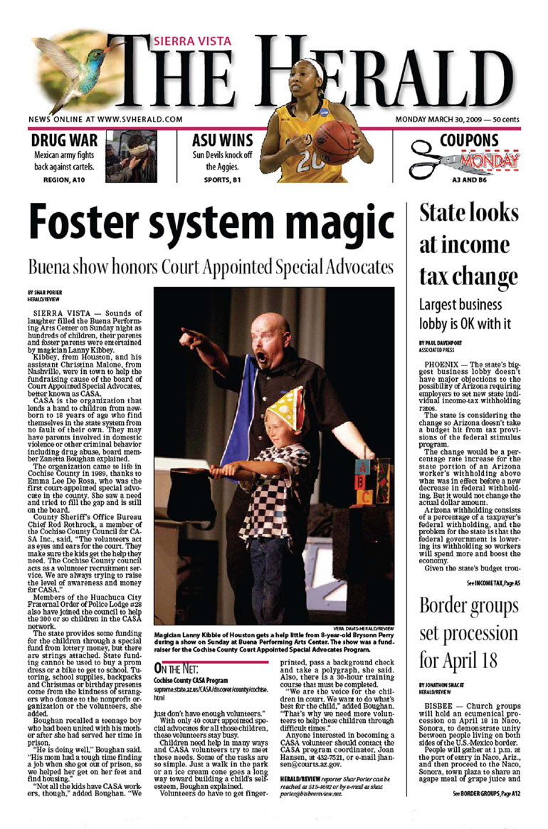 magic show front page news